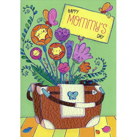 Designer Greetings Flowers in Purse: Mommy Juvenile Mother's Day Card