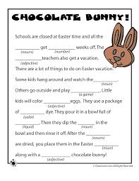 Halloween Mad Libs Esl by Easter Mad Libs Easter Mad Libs Chocolate Bunny U2013 Classroom Jr
