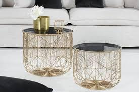eleganter couchtisch storage 42cm gold grau
