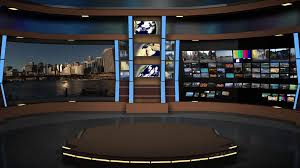 Animated Virtual Set Studio AnimSet 002 Wide Shot News Set With