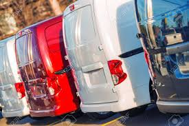 Small Cargo Trucks Business Fleet. Cargo Cars In A Row. Distribution ...