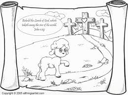 Lamb Of God Color Page Jesus Is The Coloring Chop Pages Animal