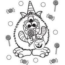 Candy Critter Halloween Coloring Page