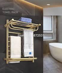 luxuriöse gold farbe elektrische wand montiert handtuch