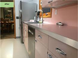 Ridgid Faucet And Sink Installer Amazon by Christine Gives Her Pink 1962 Lyon Kitchen Some Retro Tlc