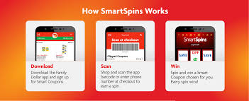 Family Dollar SmartSpins In Smart Coupons App