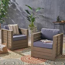 Noble House Oxnard Gray Armed Wood Outdoor Lounge Chairs With Gray Cushions  (2-Pack) Noble House Zion Industrial Teak Brown Armed Wood Outdoor Lounge Chairs With Rustic Metal Frame 2pack Arc Lounge Chair From Moving Mountains Clippings Elegant Chair In Fabric Not Just Bully Ottoman Set Black The Folio Has A Solid Wood Frame An Upholstered Bernard Palecek Davenport Coastal Beach Rattan Back Lento Leather Aal 82 Hay Spruce Up Your Backyard Modern Fniture Edwin Aframe 1069 Lc2 Lugo Robin