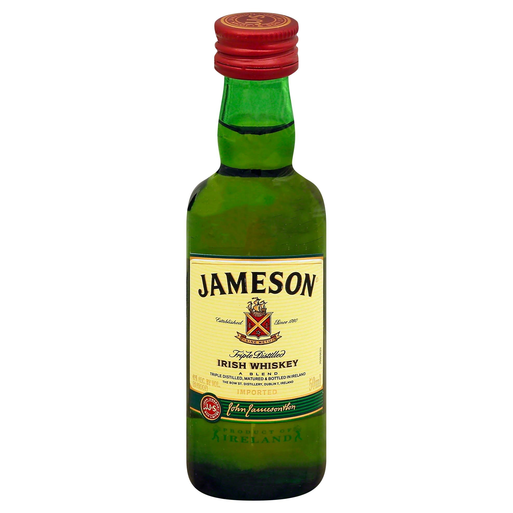 Jameson Whiskey, Irish, Triple Distilled - 50 ml