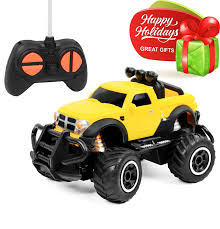 100 Toy Cars And Trucks Click N Play RC Remote Control Car Mini Pickup Truck Rock Crawler