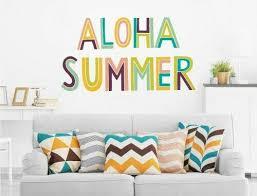 wandtattoo sprüche englisch aloha summer wohnzimmer deko