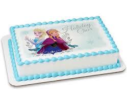 Frozen Elsa & Anna Holiday Cheer Cake Image Cake