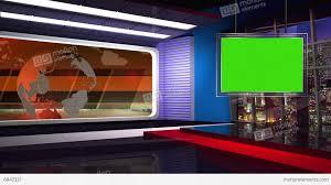 News TV Studio Set 46