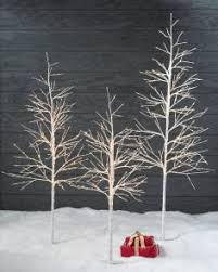 Artificial Twig Christmas Trees Indoor Outdoor LED Winter Birch Tree By Balsam Hill