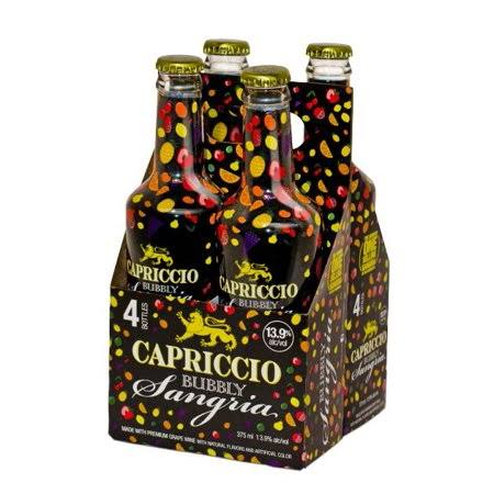 Capriccio Sangria, Bubbly - 4 pack, 375 ml bottles