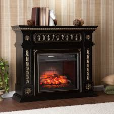 Decor Flame Infrared Electric Stove by Donovan Infrared Electric Fireplace Black Southern Enterprises