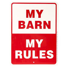 Shop Noble Beasts Graphics My Barn, My Rules Sign 9