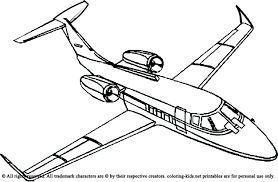 Images Airplanes Coloring Pages Airplane Simple Fuel Colors Airline Tail Full Size