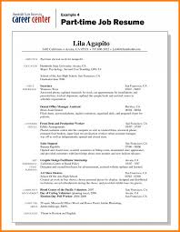 Free Download Sample 7 Basic Resume Examples For Part Time Jobs Of