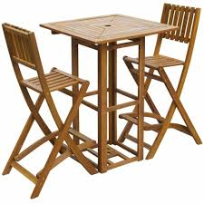 Details About New Solid Acacia Wood Outdoor Bar Set Restaurant Cafe Pub  Table Chair Seat