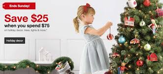 Now Through Sunday Get 25 Off Any 75 Order In Holiday Decor From Target This Includes Lights Trees Ornaments Stockings Gift Wrap And More