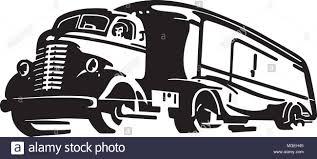 100 Semi Truck Clip Art Retro Illustration Stock Vector