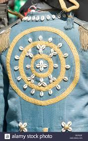 100 Sea Shell Design Shell Design On Jacket Costume Of Street Entertainer Stock Photo