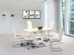 100 White Gloss Extending Dining Table And Chairs And New Greenapple Furniture