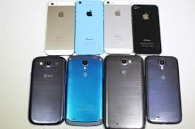 Apple iPhone 5S 5C 5 4S vs Samsung Galaxy S4 S4 Active Note 2