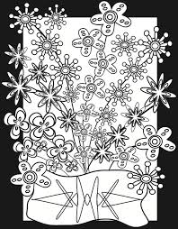 Flower Power Coloring Page Print This On Vellum Then Color With Markers To Make