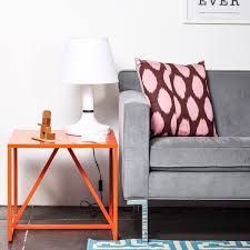 I like the idea of a simple painted side table easy and cheap