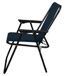 Story@Home Quad Light Weight Portable Folding Camping Chair, Navy Blue