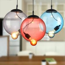 Indoor Hanging Lights Colorful Glass Bubble Pendant Lamp Dining Room Bar Light Restaurant