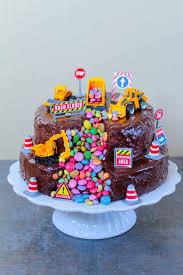 bagger torte kindergeburtstag essen kuchen bagger kuchen