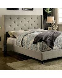 King Size Platform Bed With Headboard by Here U0027s A Great Price On Anabelle Collection Cm7677gy Ek Bed