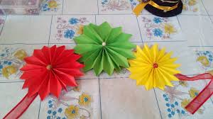 How To Make Birthday Decorations Out Of Crepe Paper Diy Hanging Flowers Youtube Wall Decoration With