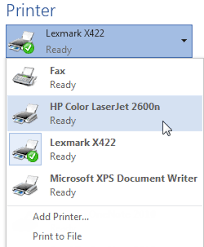 You May Need To Select The Printer Want Use If Your Computer Is Connected Multiple Printers