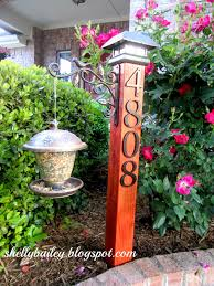 Decorative Reflective Driveway Markers by Diy House Number Yard Post A Pinterest Inspired Project