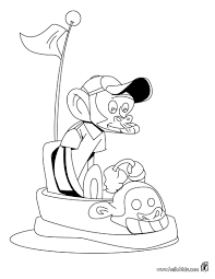 Monkey Driving A Car Coloring Page