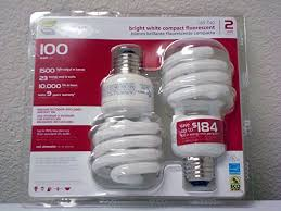 ecosmart 23 watt 100w bright white cfl light bulbs 2 pack