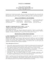 Manufacturing Resume Samples Engineer Examples