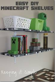Easy DIY Minecraft Shelves