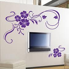 amazon com stylish modern flower wall stickers vinyl art decals