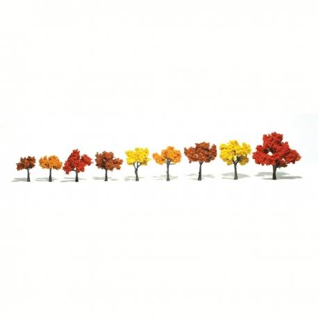 Woodland Scenics Fall Mix 3 HO Scale Model Assembled Tree - 3-5""