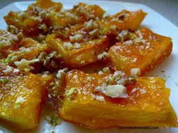 Easy Pumpkin Desserts by Candied Pumpkin Dessert With Walnuts Turkish Style Kabak Tatlisi
