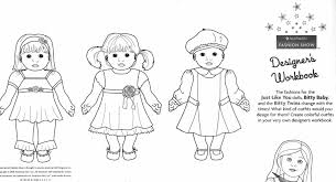 American Girl Doll Coloring Pages Pictures Colorine Net