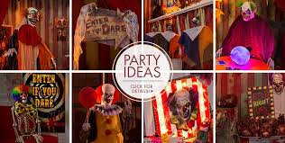 Cheap Scene Setters Halloween by Creepy Carnival Decorations Creepy Clown Props Party City