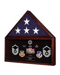 Battalion Military Retirement Shadow Box Memorial American Flag Case Memorabilia Display MADE IN AMERICA