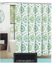 Amazing Deal on Cynthia Rowley Shower Curtain Clover Medallion