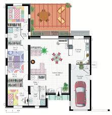 plan villa moderne 3d incroyable plan villa moderne plan villa