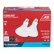 Watts Floor Drain Extension by Ace 65 Watts Incandescent Reflector Floodlight Bulb 2 Pack Flood